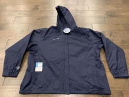 mens navy timber pointe waterproof hooded rain