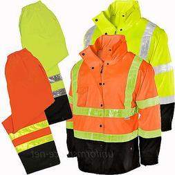 Mens Rain Hooded Jackets, Pants ML Kishigo Rainwear Waterpro