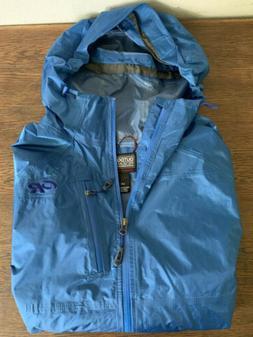 Mens rain jacket wind breaker Outdoor Research Helium Size L