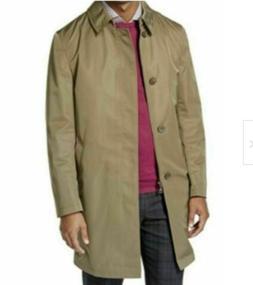 Calvin Klein Mens Rain Trench Coat Olive Green Jacket Extra