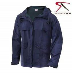 Rothco Mens Rain Waterproof Navy Blue Microlite PVC Coated N