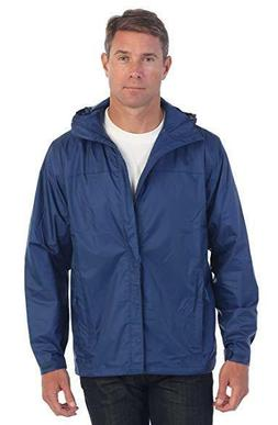 Gioberti Men's Waterproof Rain Jacket - BLUE XXL