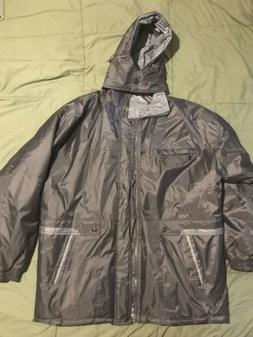 MENS Winter Rain Snow OUTERWEAR Gray REVERSIBLE ALL WEATHER