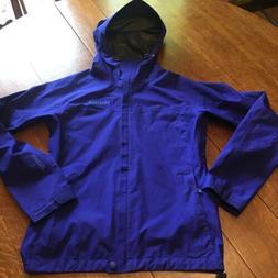 Marmot Minimalist Gore Tex Rain Jacket Coat Royal Blue Packa