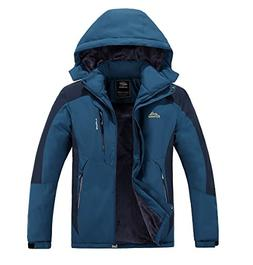Men's Mountain Fleece Ski Jacket Winter Softshell Windproof
