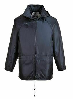 PORTWEST BLACK CLASSIC RAIN JACKET WATERPROOF DURABLE SEALED