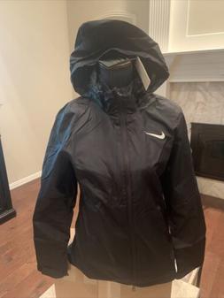 New Nike Academy 18 Rain Jacket Full Zip Hood Women's Medium