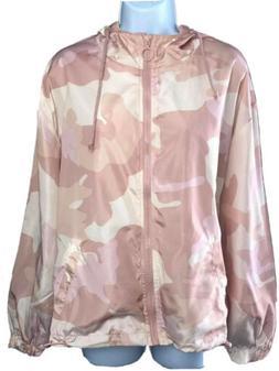 New Look Pink Camo hooded raincoat rain jacket Size 3X - 2X
