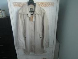 New Men's Beige Khaki Rain Trench Coat Jacket Lightweight Ti