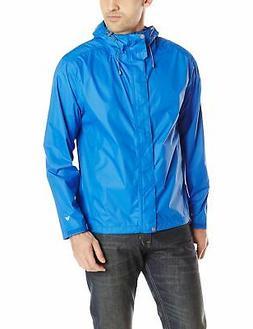 NEW White Sierra Men's Trabagon Rain Jacket, Nautical Blue,