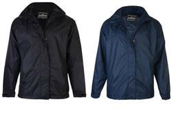 New Mens  Big Tall Plus Waterproof  Windproof Rain Zip Coat