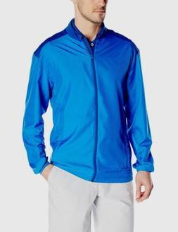 New Mens Adidas Club Wind Jacket Shock Blue Long Sleeve Rain