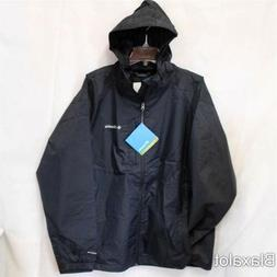 NEW COLUMBIA STRAIGHT LINE RAIN JACKET Men's Shell Black S-M
