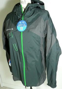 NEW Columbia Tech Attack Rain Jacket, Men's Medium Shell, Gr