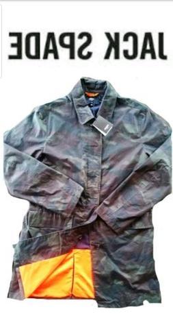 NEW! JACK SPADE Trench Coat/ Rain Jacket Waxwear Large Camo