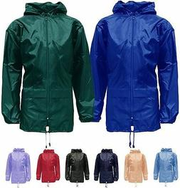 New Unisex Mens Womens Plus Size Kagool Lightweight Rain Jac