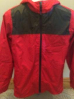 New W/O Tags North Face Boy's Zipline Rain Jacket Large Red/