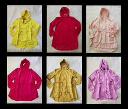 NEW WOMEN'S J CREW PERFECT RAIN COAT JACKET PEONY / PINK BLU