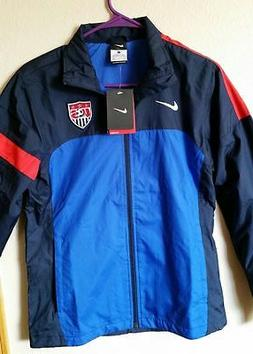 NEW Women NIKE USA National Soccer Football Rain Jacket Navy