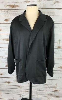 NEW Candy Rain Womens Knit Jacket 2X Plus Smoke Grey 1 Butto