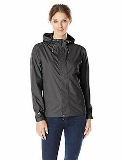 NWT White Sierra Cloudburst Trabagon Rain Jacket - Black - L