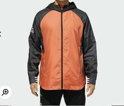 Adidas NWT Men's Rain Coat ID Woven Zip Shell Hooded Windbre