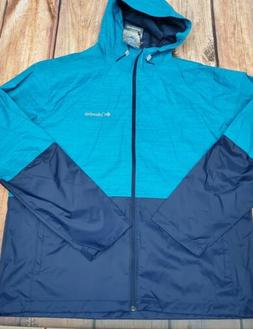 NWT Columbia Men's Roan Mountain Rain Waterproof Hooded Jack