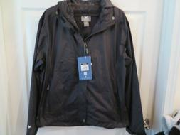 NWT Mens Black White Sierra Rain Jacket, M