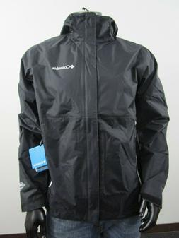 NWT Mens Columbia M-XXL Gable Pass Waterproof Hooded Rain Ja