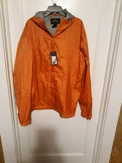 NWT Gioberti Men's Waterproof Rain Jacket Orange Sz XXL #J