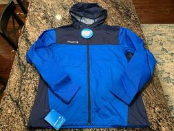 NWT Mens COLUMBIA Weather Drain Black Windbreaker Jacket Siz