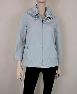NWT KOAN Rain Jacket Coat 3/4 Sleeve Full Zip Drawstring Col