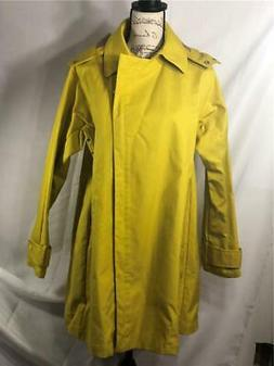 NWT Women's J.Crew Swing Trench Coat Yellow Hooded Rain Jack
