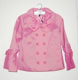 nwt women s pink double breasted short