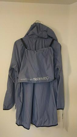 NWT Womens Calvin Klein Performance packable Jacket, Gray, m
