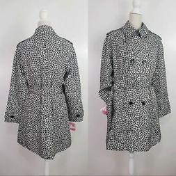 NWT Kate Spade Womens Sz. M Leopard Print Trench Rain Coat B