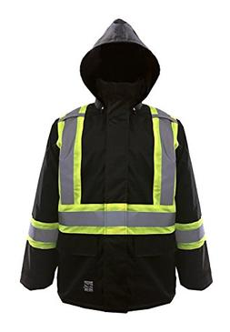 Viking Open Road 150D Hi-Vis Waterproof Rain Jacket, Black,