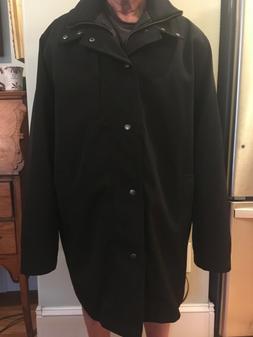 Joseph Abboud Outerwear Mens Black Rain Wind Jacket Size XXL