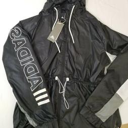 Adidas Outline Wind Size Large Womens Rain Jacket Black and