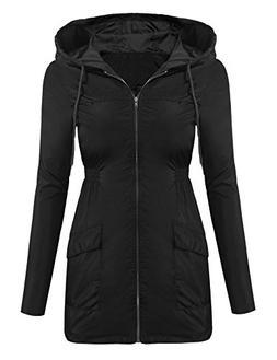 Beyove Women's Lightweight Raincoat Windbreaker Waterproof H