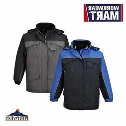 Padded Mens Rain Jacket Waterproof Rainproof Windproof Coat