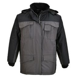 Padded Mens Rain Jacket Waterproof Rainproof Windproof Coat