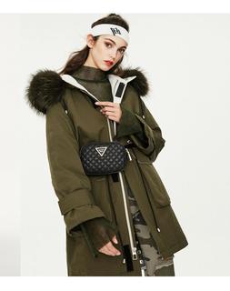 Parka Bigger Real Fur Collor Jacket Warm Womens Hooded Down