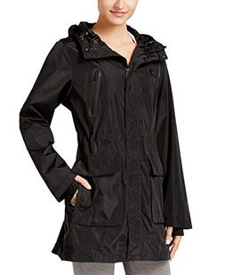 performance womens fall waterproof raincoat black m