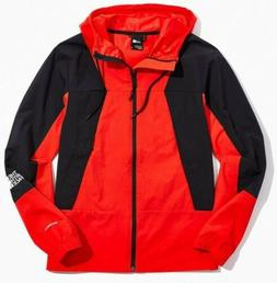 The North Face Peril Wind Rain Hooded Jacket Mens Red Black