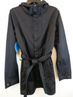 Columbia Plus Size Pardon My Trench Rain Jacket Black Size 2