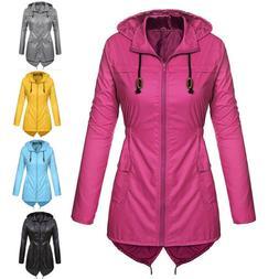 Plus Size Women Lightweight Raincoat Waterproof Active Outdo