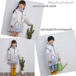 Popular Kids Raincoat Rain Jacket Toddler Rain Coats Transpa