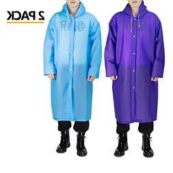 Opret Portable Adult Rain Poncho, Reusable Raincoat with Hoo