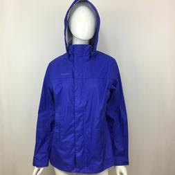 Marmot Precip Jacket Womens Large Hooded Lightweight Rain Pa
